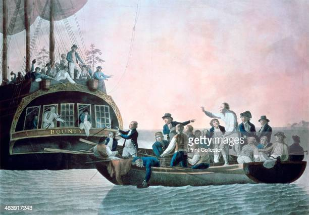 The mutineers turning Lieut Bligh and part of the officers and crew adrift from his Majesty's ship the Bounty' 1790