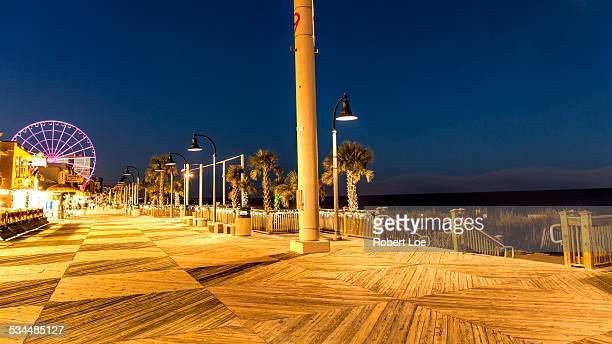 The Myrtle Beach Boardwalk at night