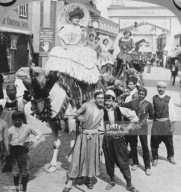 The 'Mysterious Asia' exhibition on the Pike at the 1904 World Fair held in St Louis Missouri