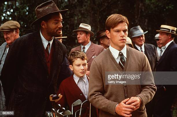 The mysterious caddy named Bagger Vance advises golfer Rannulph Junuh with help of his young prodege Hardy in Robert Redford's The Legend of Bagger...