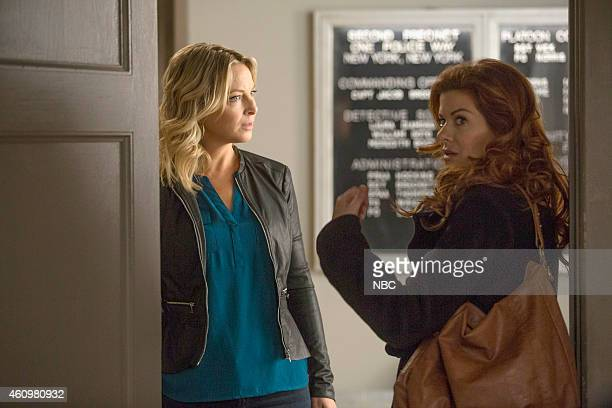 LAURA The Mystery of the Fateful Fire Episode 112 Pictured Anastasia Griffith as Angela Ryan Debra Messing as Laura Diamond