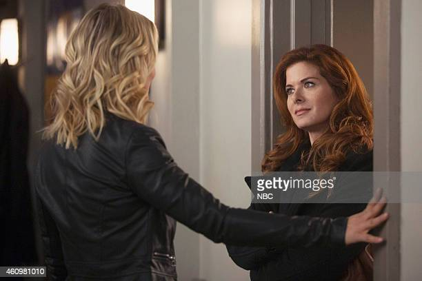 LAURA 'The Mystery of the Fateful Fire' Episode 112 Pictured Anastasia Griffith as Angela Ryan Debra Messing as Laura Diamond