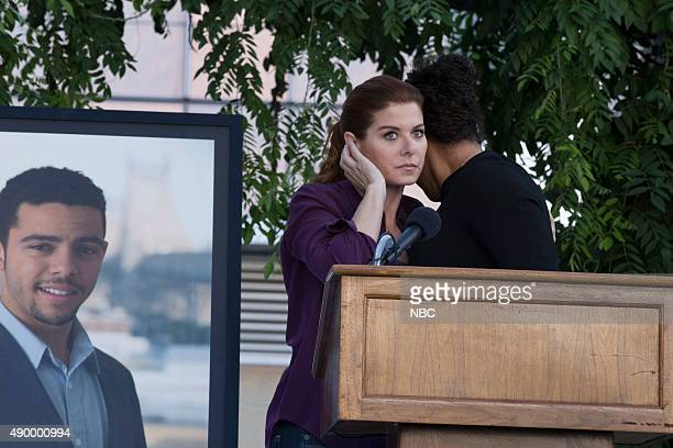LAURA The Mystery of the Locked Box Episode 203 Pictured Christopher Reed Brown as Zac Debra Messing as Laura Diamond Linda Powell as Rosalie