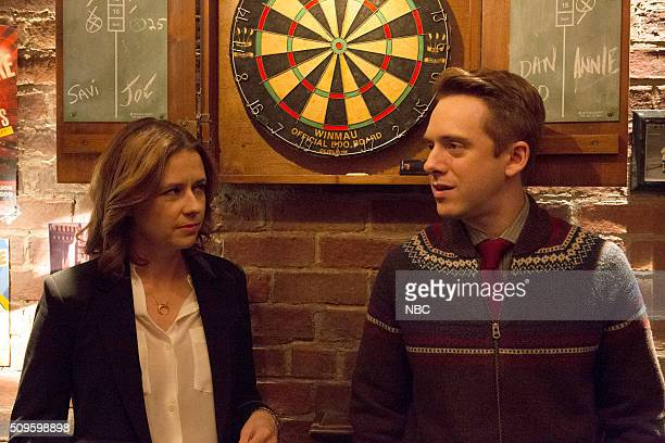LAURA The Mystery of the Political Operation Episode 214 Pictured Jenna Fischer as Jennifer Lambert Max Jenkins as Max Carnegie