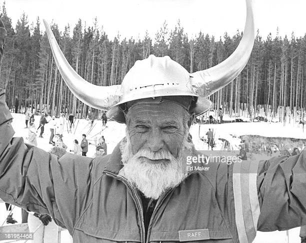 FEB 5 1966 FEB 7 1966 The mythical Norse god Ullr portrayed by Larry Raff reigned over the winterland festival of Ullr Dag in Breckenridge Colo Ullr...
