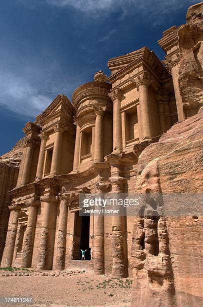 The Nabatean tombs of Petra Jordan were taken over by the Romans as they lay on the old frankincense trade routes The Monastery