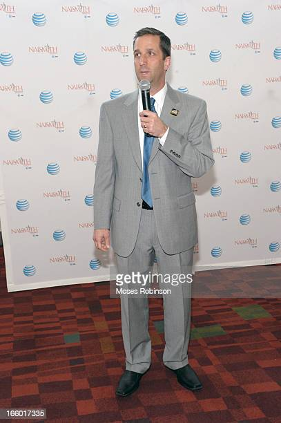 The NABC Guardians Executive Director Atlanta Tipoff Club Eric Oberman attends the NABC Guardians of the Game Awarding of the Naismith Trophy...
