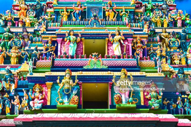 The Nagabooshani Amman temple (Kovil), Temple gopuram.
