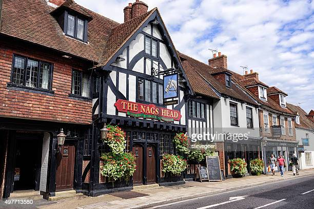 the nags head, chichester, england - chichester stock pictures, royalty-free photos & images