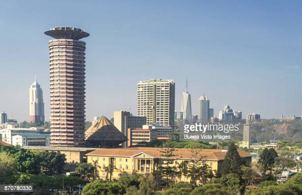 The Nairobi's business district.