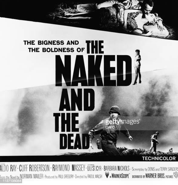 The Naked And The Dead poster from left top Aldo Ray Barbara Nichols 1958