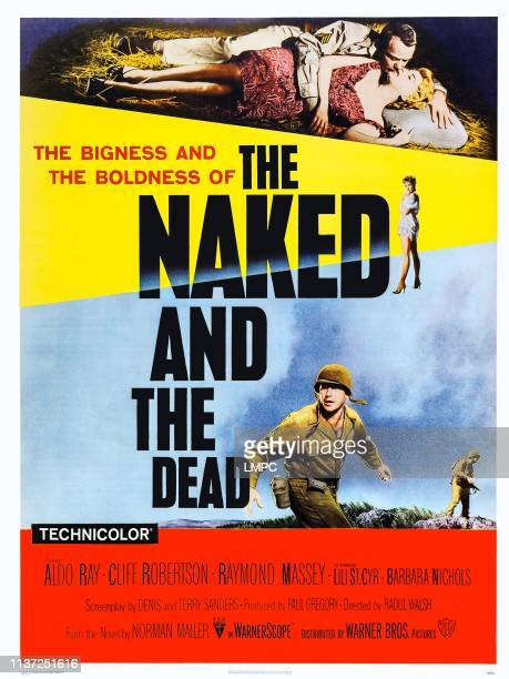 The Naked And The Dead poster US poster art top from left Aldo Ray Barbara Nichols below Lili St Cyr bottom Cliff Robertson 1958