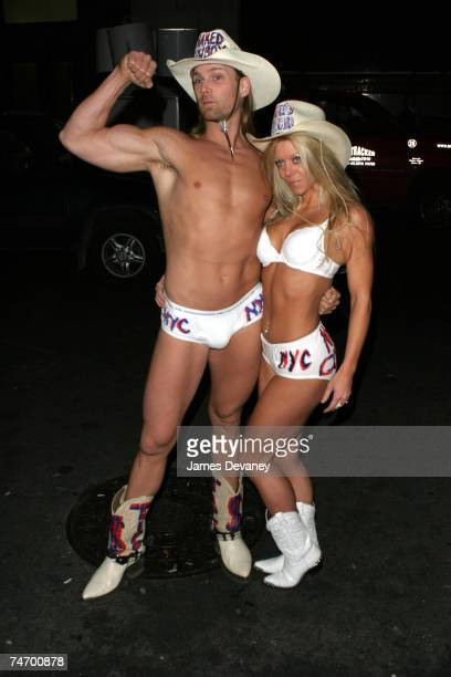 The Naked Cowboy and the Naked Cowgirl at the Deep in New York City New York
