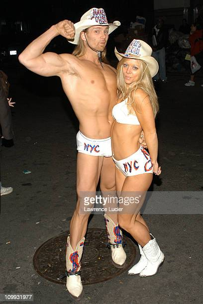 The Naked Cowboy and the Naked Cowgirl during First Annual In Touch Weekly Awards at Deep in New York City New York United States