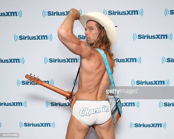 The Naked Cowboy visits the SiriusXM Studios on August 26 2014 in New York City