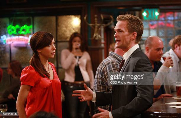 'The Naked Man' Barney and Lily sit at their favorite hang out on HOW I MET YOUR MOTHER Monday Nov 24 on the CBS Television Network