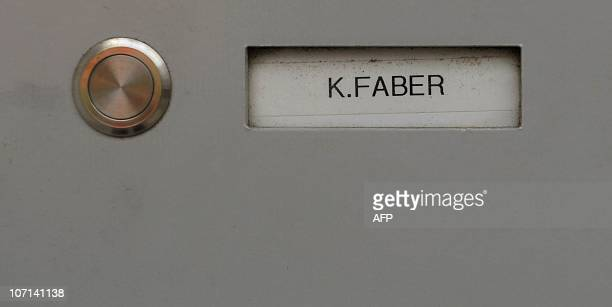 The name of Dutchborn convicted Nazi Klaas Carel Faber can be seen on the doorbell panel of his house in Ingolstadt southern Germany on November 25...