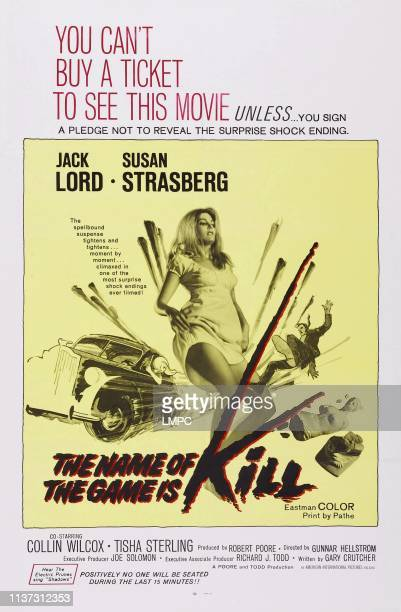 The Name Of The Game Is Kill poster US poster art Tisha Sterling 1968