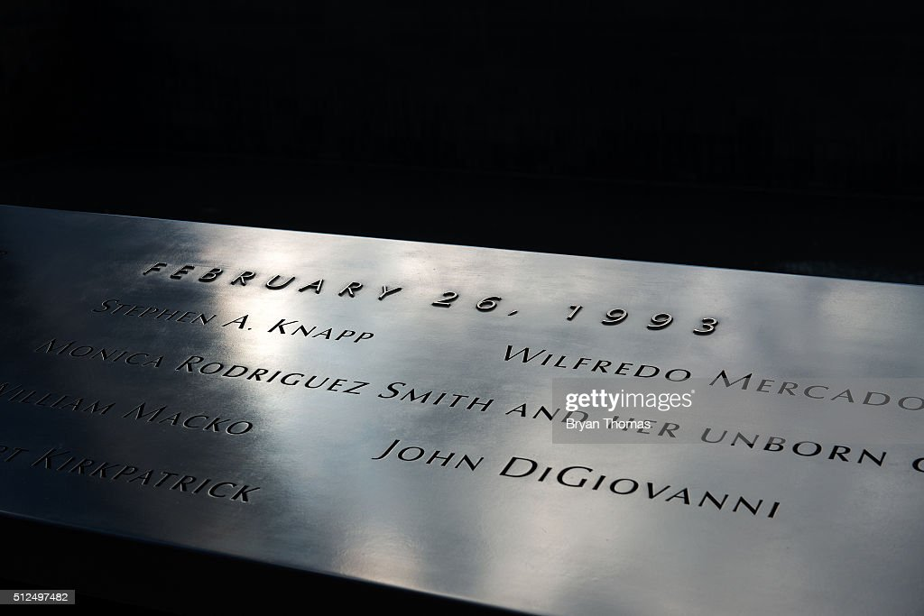23rd Anniversary Of 1993 WTC Bombing Commemorated At 9/11 Memorial : News Photo
