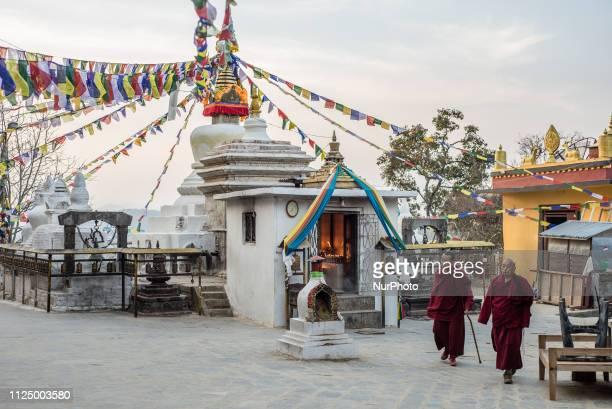 The Namo Buddha stupa near the Thrangu Tashi Yangtse Monastery Kavrepalanchok District Bagmati Zone Nepal in February 2019 Thrangu Tashi Yangtse...