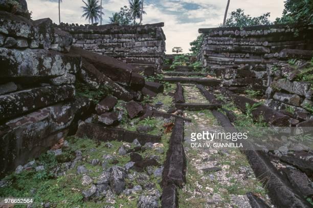The Nan Dowas Temple ruins of the city of Nan Madol Pohnpei Island Micronesia
