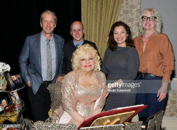 "The Nanny"" cast Charles Shaughnessy, Benjamin Salisbury, Renée Taylor, Fran Drescher, and Lauren Lane pose for portrait at the LA Premiere of Renee..."