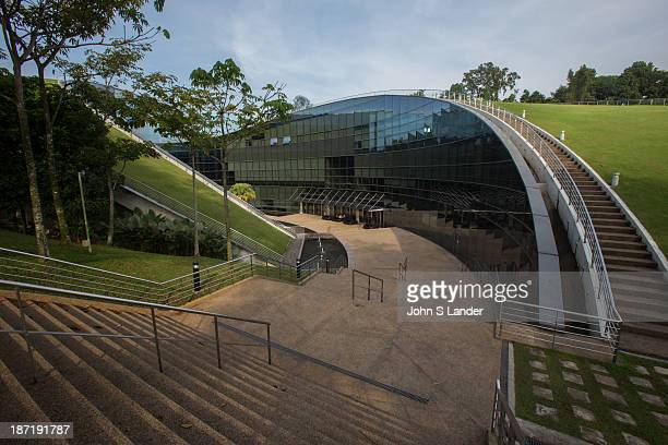 The Nanyang Technology University School of Art Design and Media building was conceived as natural extensions of the earth The highlight of the...