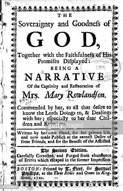a contrast between the puritan and indian cultures in mary rowlandson writings