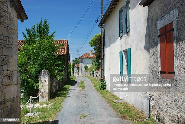 The narrow and rustic street