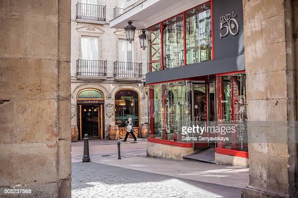 狭い通り、街の中心部のヴィクトリア-gasteiz - ビトリア=ガステイス ストックフォトと画像