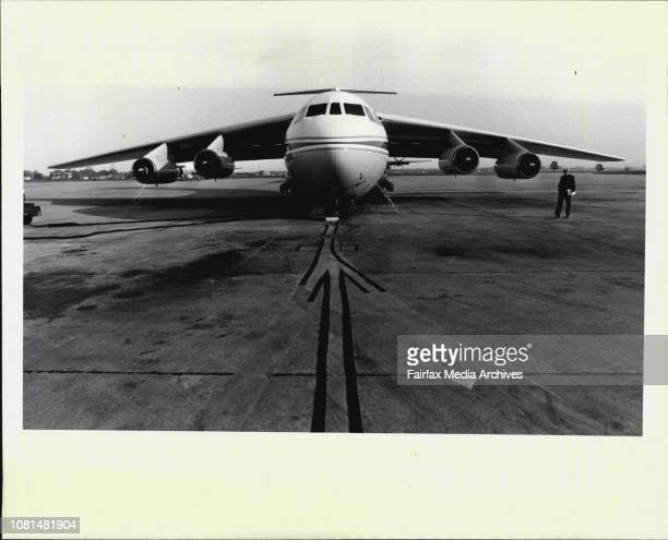 The NASA Kuiper Airborne Observatory a flying telescope built inside a giant C141 Starlifter transport plane at Richmond Air Force Base June 8 1983