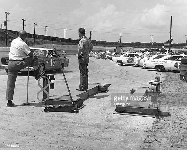 The NASCAR scales sit empty prior to the running of the Western North Carolina 500 NASCAR Cup race at AshevilleWeaverville Speedway Darel Dieringer...