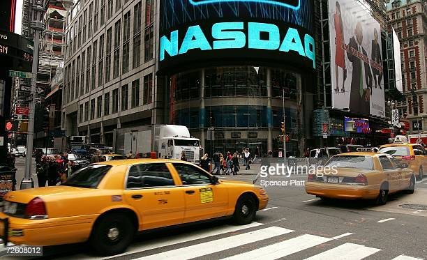 The NASDAQ MarketSite in Times Square is seen November 20 2006 in New York City For the second time this year the London Stock Exchange turned down a...