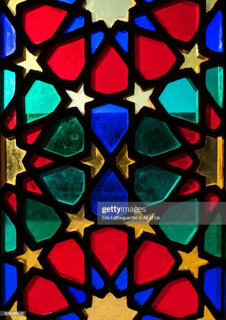 The Nasir ol Molk mosque with its beautiful colors, Fars Province, Shiraz, Iran... : News Photo