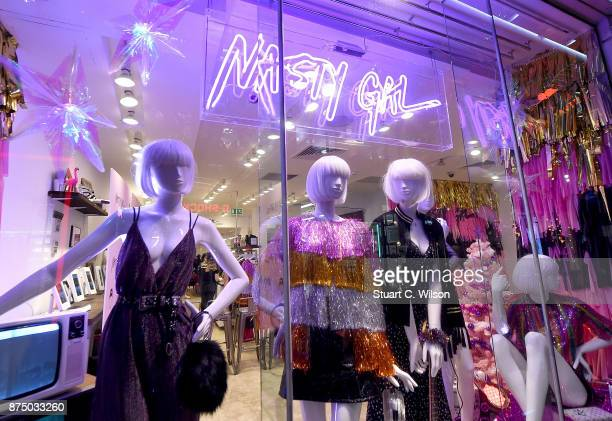 The Nasty Gal Pop Up Shop on Carnaby Street on November 16 2017 in London England