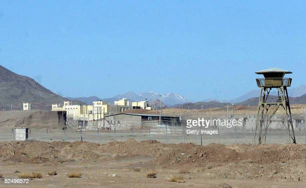 The Natanz uranium enrichment facility buildings stand March 30, 2005 some 200 miles south of Tehran, in Natanz, Iran. The cities of Natanz and...