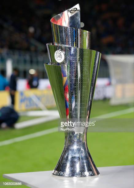 The Nation League Cup during the Nation League match between Italia v Portogallo in Milan Giuseppe Meazza Stadio on November 17 2018