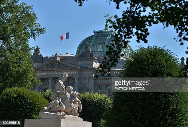 The National and University Library in the German district socalled 'Neustadt' of Strasbourg eastern France is pictured on September 8 2016 This area...