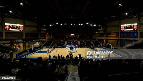 The National Anthem before the Division III Women's Basketball Championship held at the Mayo Civic Center on March 17 2018 in Rochester Minnesota