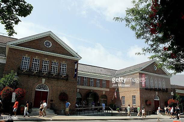 The National Baseball Hall of Fame and Museum is seen during the Baseball Hall of Fame weekend on July 29 2006 in Cooperstown New York
