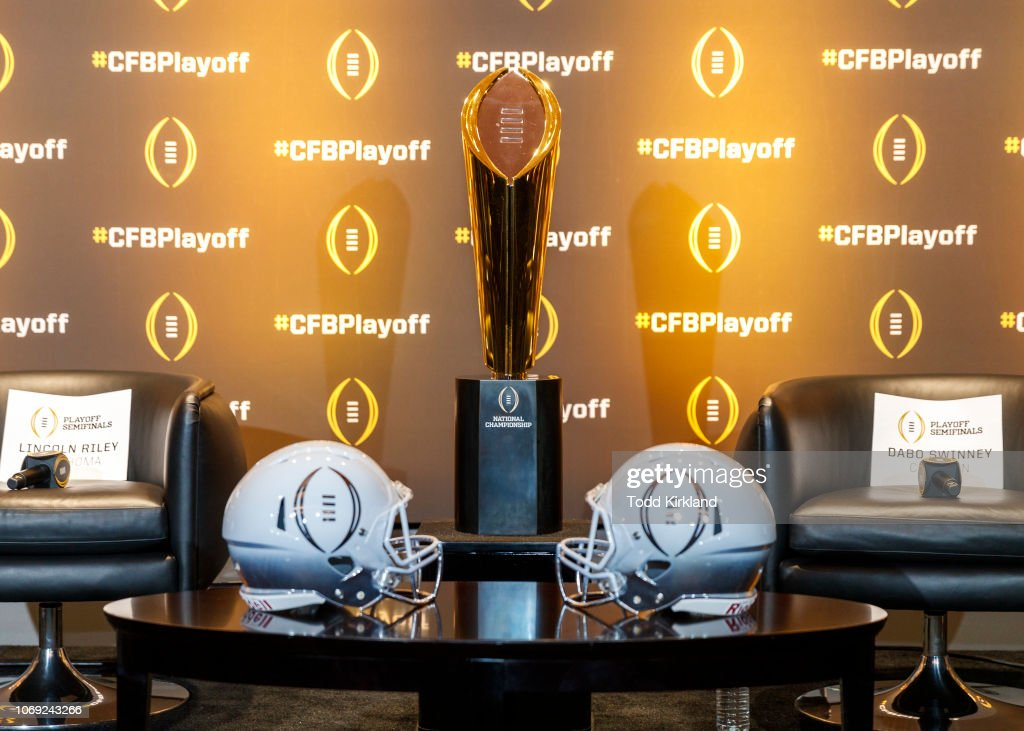 College Football Playoff Semifinal Head Coaches - News Conference : News Photo