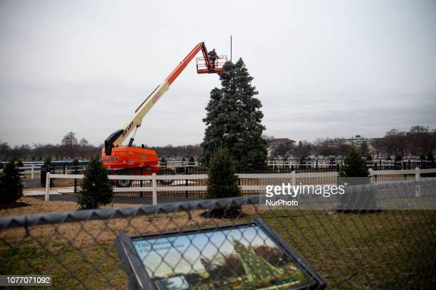 The National Christmas Tree site is dissembled as the federal government shutdown enters its' 14th day January 4 2019