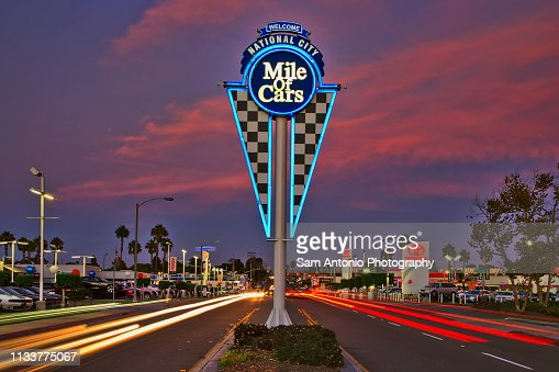 National City Mile Of Cars >> The National City Mile Of Cars Neon Sign National City