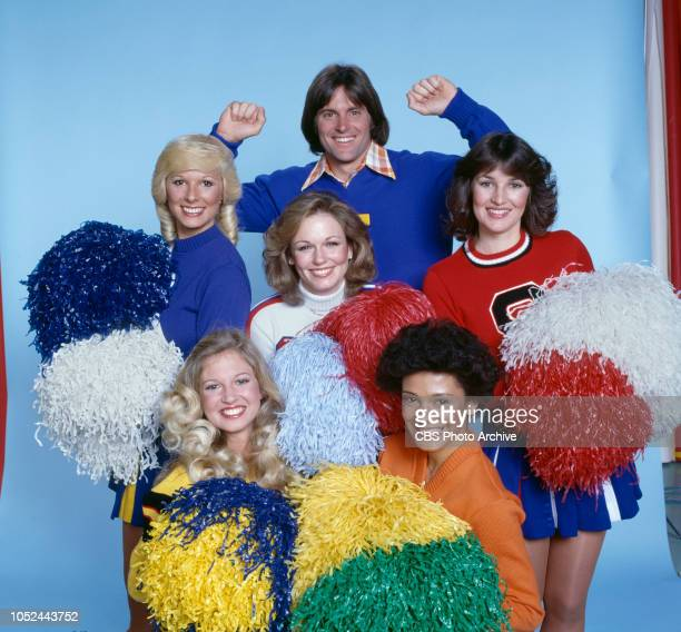 The National Collegiate Cheerleading Championships television special broadcast Monday April 24 1978 Los Angeles CA Pictured from left is Sue Jacobs...