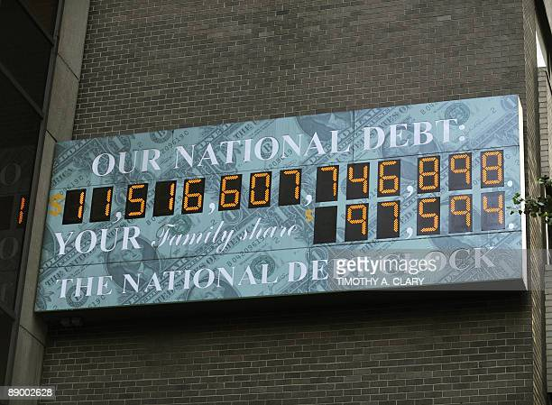 The National Debt Clock in midtown New York July 13 2009 The federal deficit has topped $1 trillion for the first time ever and could grow to nearly...