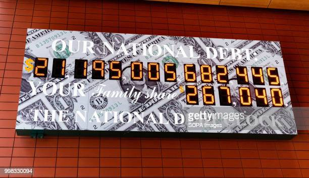 The National Debt Clock is a very large digital display of the current gross national debt of the United States It is mounted on a western facing...