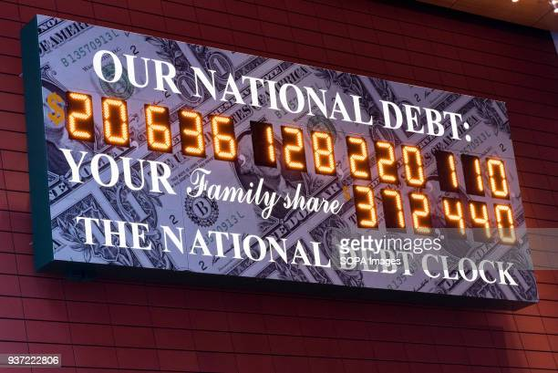 The National Debt Clock is a very very large digital display of the current gross national debt of the United States It is mounted on a western...
