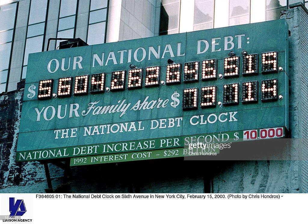 National Debt Clock in New York City : News Photo