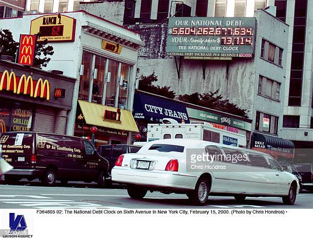 The National Debt Clock on Sixth Avenue in New York City February 15 2000