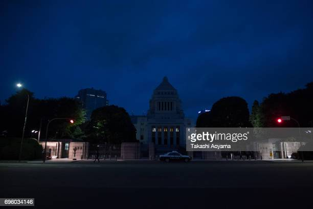 The National Diet Building is seen on June 15 2017 in Tokyo Japan Japan's controversial anticonspiracy bill to crack down on people planning...